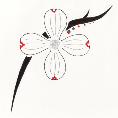 dogwood flower tattoos l lower back tattoos