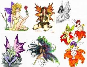 fairy-butterfly-flower-tattoos