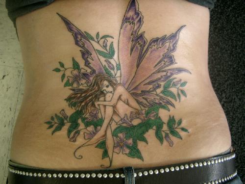 fairy butterfly flower tattoos. fairy butterfly flower tattoos