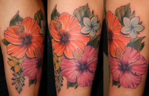 flower memorial tattoos