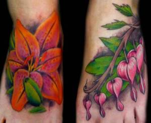 flower-tattoos-on-the-foot