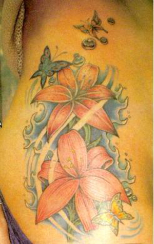 flower star tattoo. star tattoo sole
