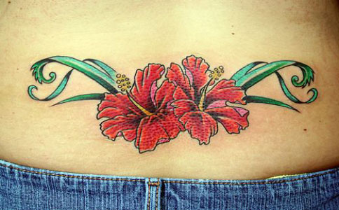 Hawaiian Flower Tattoos Tropical Hawaiian flowers are exotic and beautiful