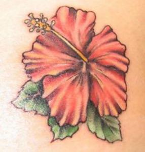 hawian-flower-tattoos