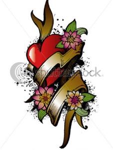 heart-flower-tattoos