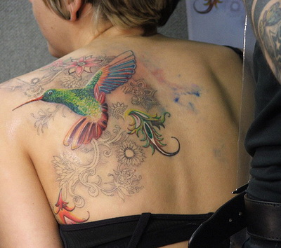 Hummingbird and Flower Tattoos Mean … to portray in the tattoo and see if