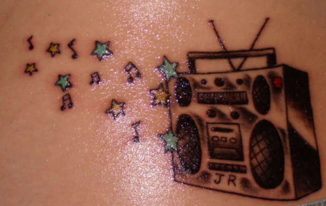 music with star tattoos. Star tattoos on ear, star tattoos designs,