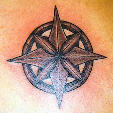 Nautical Star Tattoos Gallery. A collection of pictures of Nautical Star