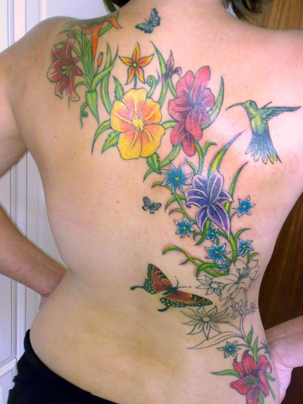 birth flower tattoos