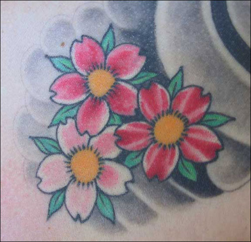 deviantart flower tattoos
