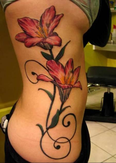 big flower tattoos