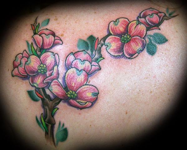 Flower tattoo star tattoos design for Star and flower tattoos