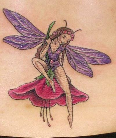Fairy Butterfly Flower Tattoos | Fairy Butterfly Flower …