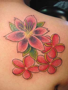 flower tattoos lilies