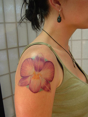 flower tattoos no outline