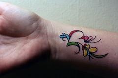 flower wrist tattoos