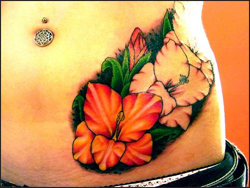 gladiolus flower tattoos