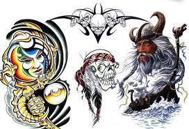 free tribal tattoo flash download