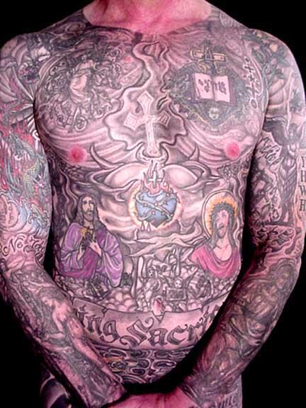 Full body tribal tattoos star tattoos design for Tribal body tattoo