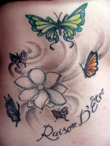 Among flower tattoos the
