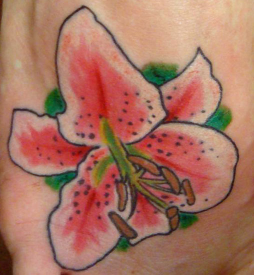 Lily Flower Tattoos Tiger Lily Stargazer Designs Tattoo Art