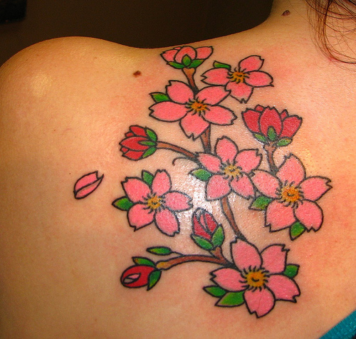 Small Flower Tattoos These days, more and more women are getting tattoos.