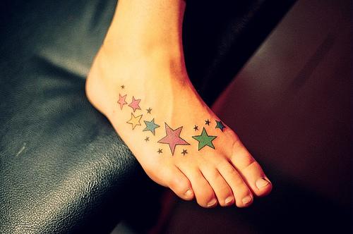 star foot tattoos