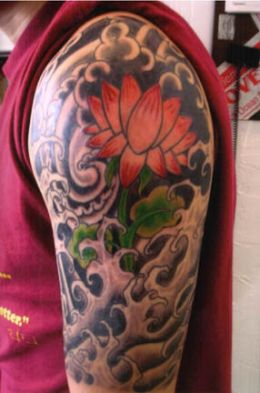 temporary lotus flower tattoos