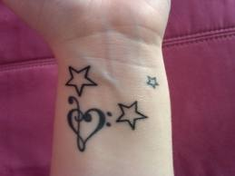 wrist star tattoos